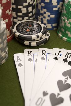 Free Poker Cards Stock Photography - 17458332