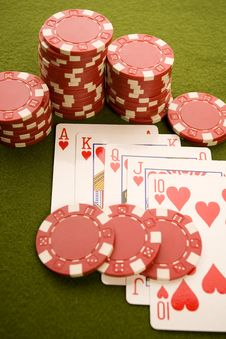 Free Poker Cards Royalty Free Stock Photography - 17458347