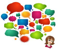 Free Colored Speech Bubbles And Girl Avatar Stock Photos - 17458573
