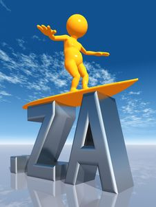 Free ZA Top Level Domain Of South Africa Royalty Free Stock Photography - 17459167
