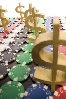 Free Poker Chips Stock Photography - 17459262