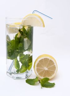 Free Tonic With Mint And Lemon Royalty Free Stock Photo - 17459305