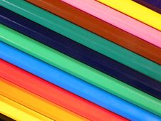 Free Background From Colourful Crayons Royalty Free Stock Image - 17459376