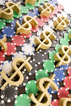 Free Gambling Chips Stock Image - 17459491