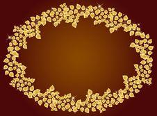 Free Frame Of Golden Leaf Royalty Free Stock Images - 17459999