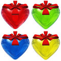 Free High Resolution 3D Hearts With Ribbons Royalty Free Stock Photos - 17460038
