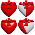 Free High Resolution 3D Heart With A Ribbon Stock Image - 17460051