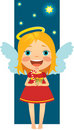 Free Angel Christmas With Gifts Royalty Free Stock Images - 17461829