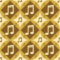Free Cute Musical Pattern Royalty Free Stock Photo - 17464915