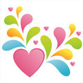 Free Glossy Heart With Colorful Splash Royalty Free Stock Photos - 17464918
