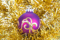 Free Christmas Ball In Gold Decorations Royalty Free Stock Photography - 17465257