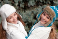 Free Two Cheerful Girls Twins, In The Park Royalty Free Stock Photos - 17467198