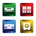 Free Four Musical Buttons Stock Images - 17469434