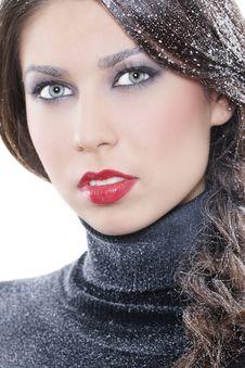 Sexy Winter Makeup Stock Photos