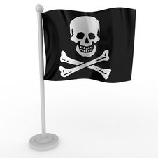 Free Flag Of Pirate Stock Photography - 17460472