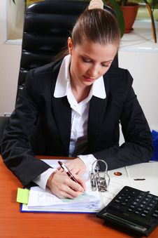 Free Businesswoman In Office Stock Photos - 17460743