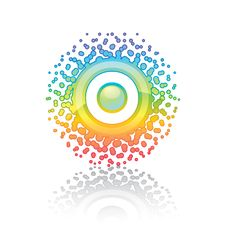 Free Sign Rainbow Sun Stock Images - 17460804