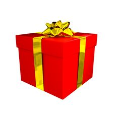 Free Red Gift Box Stock Photography - 17460942