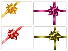 Free Collection Of Bows. Royalty Free Stock Photography - 17461387