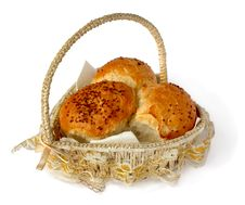 Free Bread In A Wicker Basket Royalty Free Stock Photo - 17461495