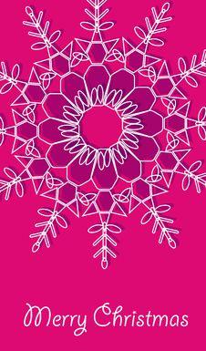 Free Christmas Vector Card With Snowflakes Royalty Free Stock Photos - 17461538
