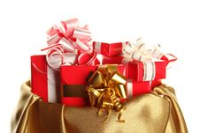 Free Сhristmas Sack Full Of Presents Royalty Free Stock Photography - 17461707