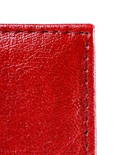 Free Red Leather With Stitch Stock Photo - 17461830