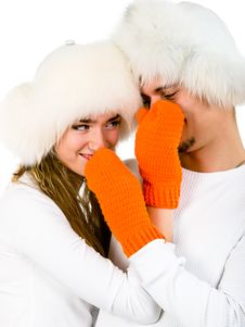 Free Winter Happy Lovers Royalty Free Stock Photography - 17461857