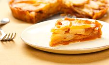 Free Caramel Apple Tart Slice Stock Photo - 17461870