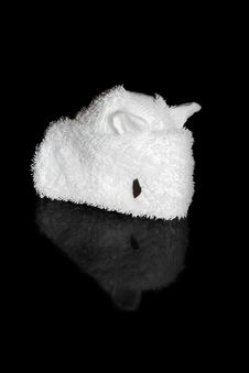 Towel Folding Mouse Royalty Free Stock Photography