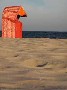Free Hooded Beach Chair Royalty Free Stock Photography - 17462197