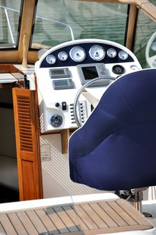 Free Control Area Of Boat Stock Image - 17462221
