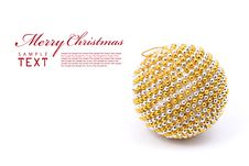 Free Gold And Silver Christmas Ball Stock Image - 17463171