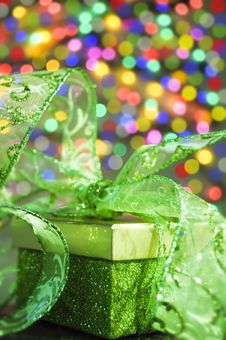 Free Gift Box And Ribbon Royalty Free Stock Image - 17463716
