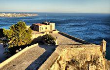 Free Patio Of Santa Barbara Castle, Alicante Royalty Free Stock Photography - 17463847