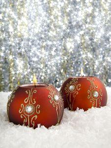 Free Christmas Candles Stock Photos - 17464543