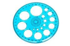Blue Transparent Protractor Royalty Free Stock Image