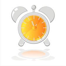 Free Clock Isolated On White Stock Photos - 17464913