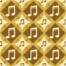 Cute Musical Pattern Royalty Free Stock Photo