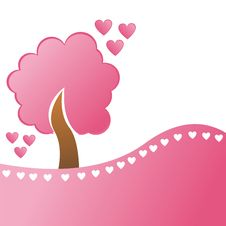 Free St. Valentine S Day Tree With Hearts Stock Image - 17464921