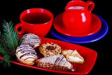 Free Afternoon Tea With Biscuits Royalty Free Stock Photo - 17465145