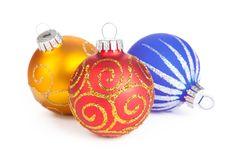 Free Three Christmas Ball, Isolated Stock Image - 17465201