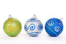 Free Three Christmas Ball, Isolated Stock Photography - 17465442