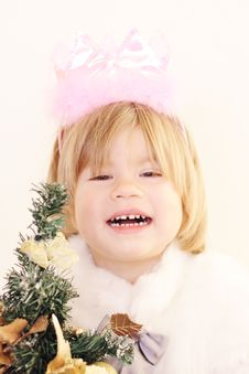 Free Beautiful Little Christmas Fairy Royalty Free Stock Images - 17466009
