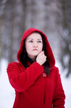 Free Girl In The Red Coat Stock Image - 17466071