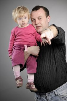 Free Father And Daughter Portrait Royalty Free Stock Photos - 17466368