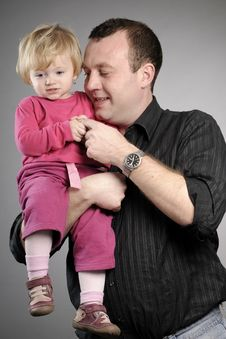 Free Father And Daughter Portrait Royalty Free Stock Images - 17466379