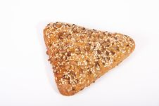 Free Baked Triangle Bread Isolated On White Background Royalty Free Stock Photos - 17467588