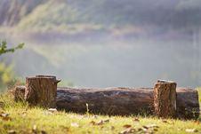 Log Bench Stock Image