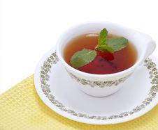 Free Black Tea With Mint Stock Photo - 17468040